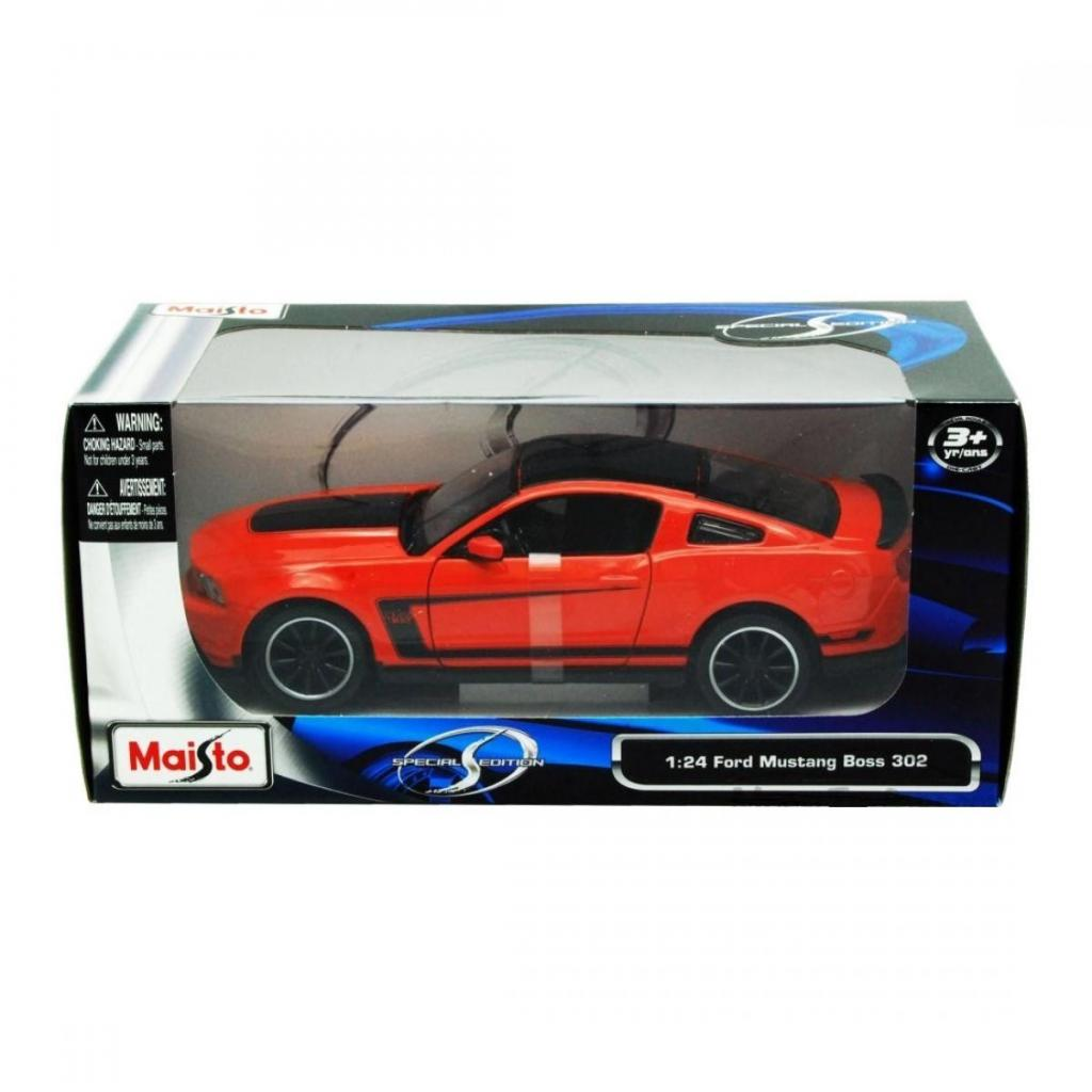 Машина Maisto Ford Mustang Boss 302 (1:24) оражевый (31269 orange) изображение 6