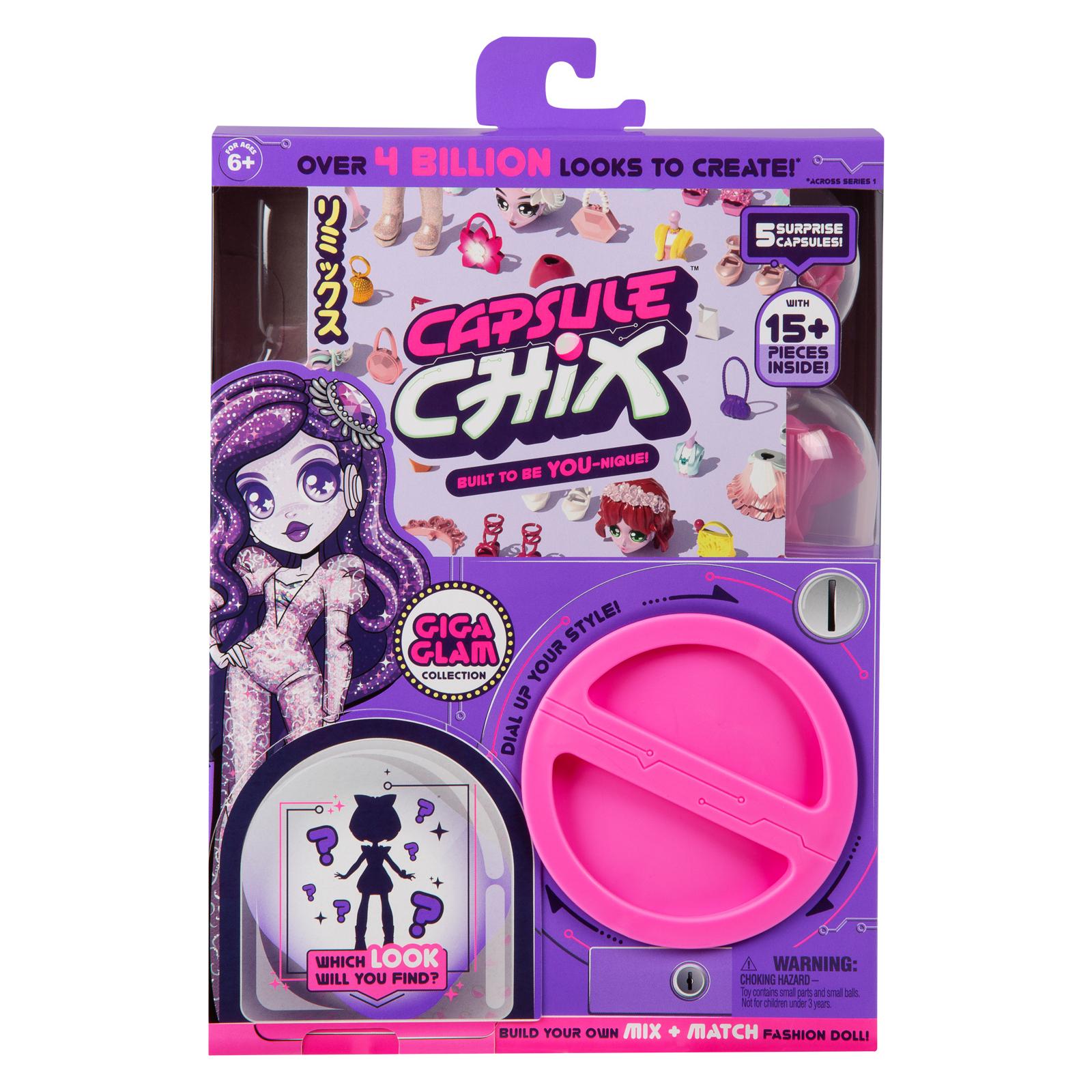 Игровой набор Moose сюрприз Capsule Chix Giga Glam с куклой (59201)