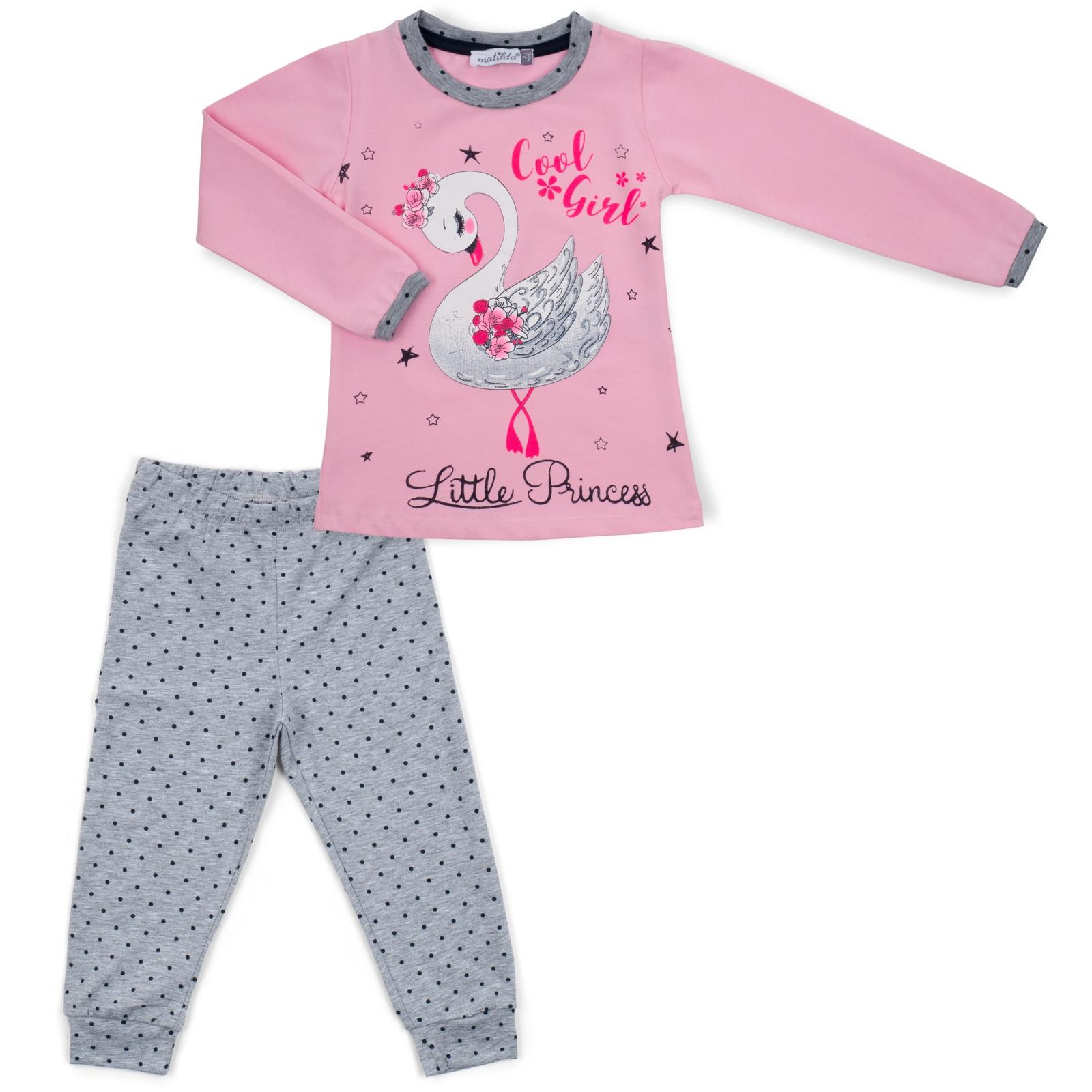Пижама Matilda с лебедем (10939-2-92G-pink)