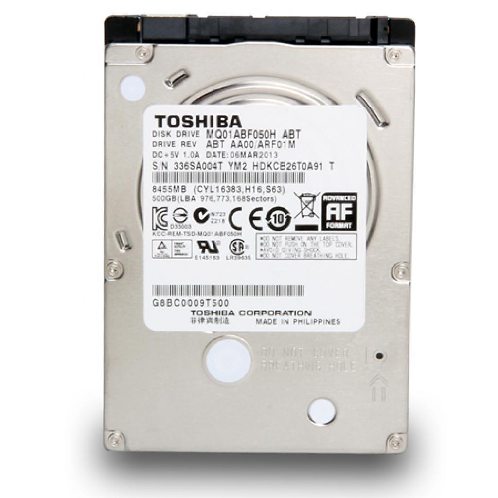 "Жесткий диск для ноутбука 2.5"" 500GB TOSHIBA (MQ01ABF050H)"