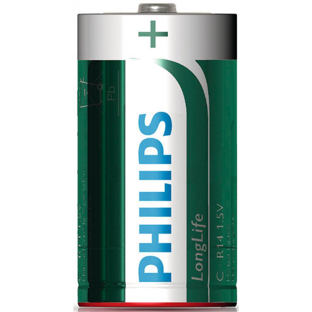 Батарейка PHILIPS R14 PHILIPS Longlife L2B * 2 (R14L2B/97) изображение 2