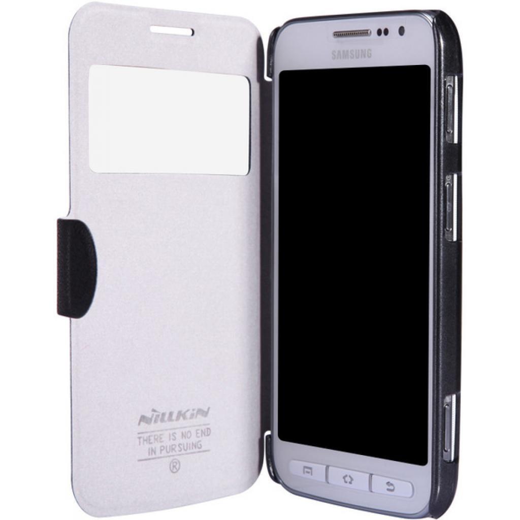 Чехол для моб. телефона NILLKIN для Samsung I8580 /Fresh/ Leather/Black (6147158) изображение 2