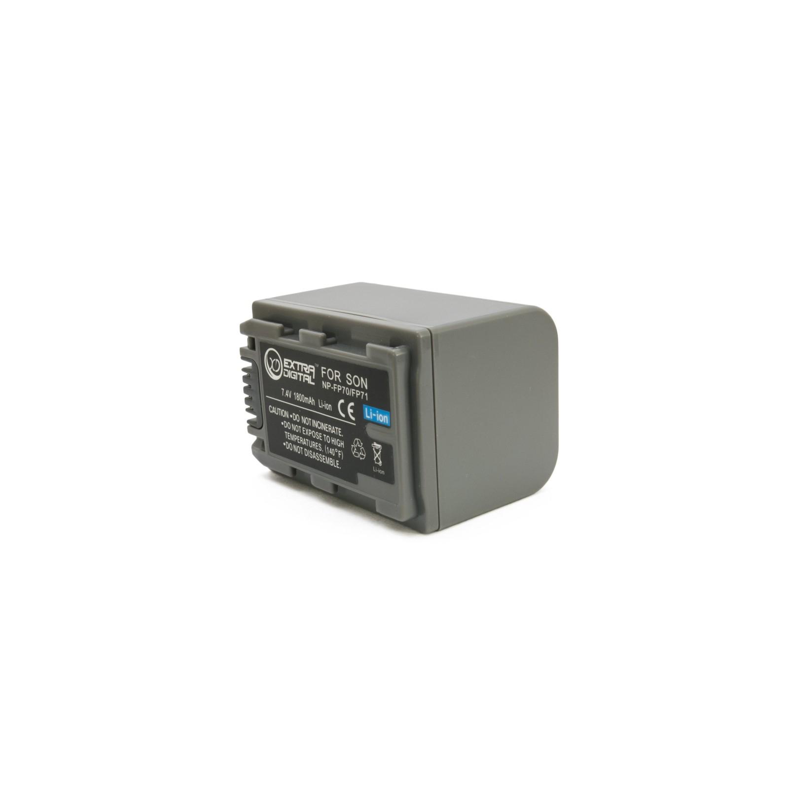 Аккумулятор к фото/видео EXTRADIGITAL Sony NP-FP70 (BDS2668) изображение 2