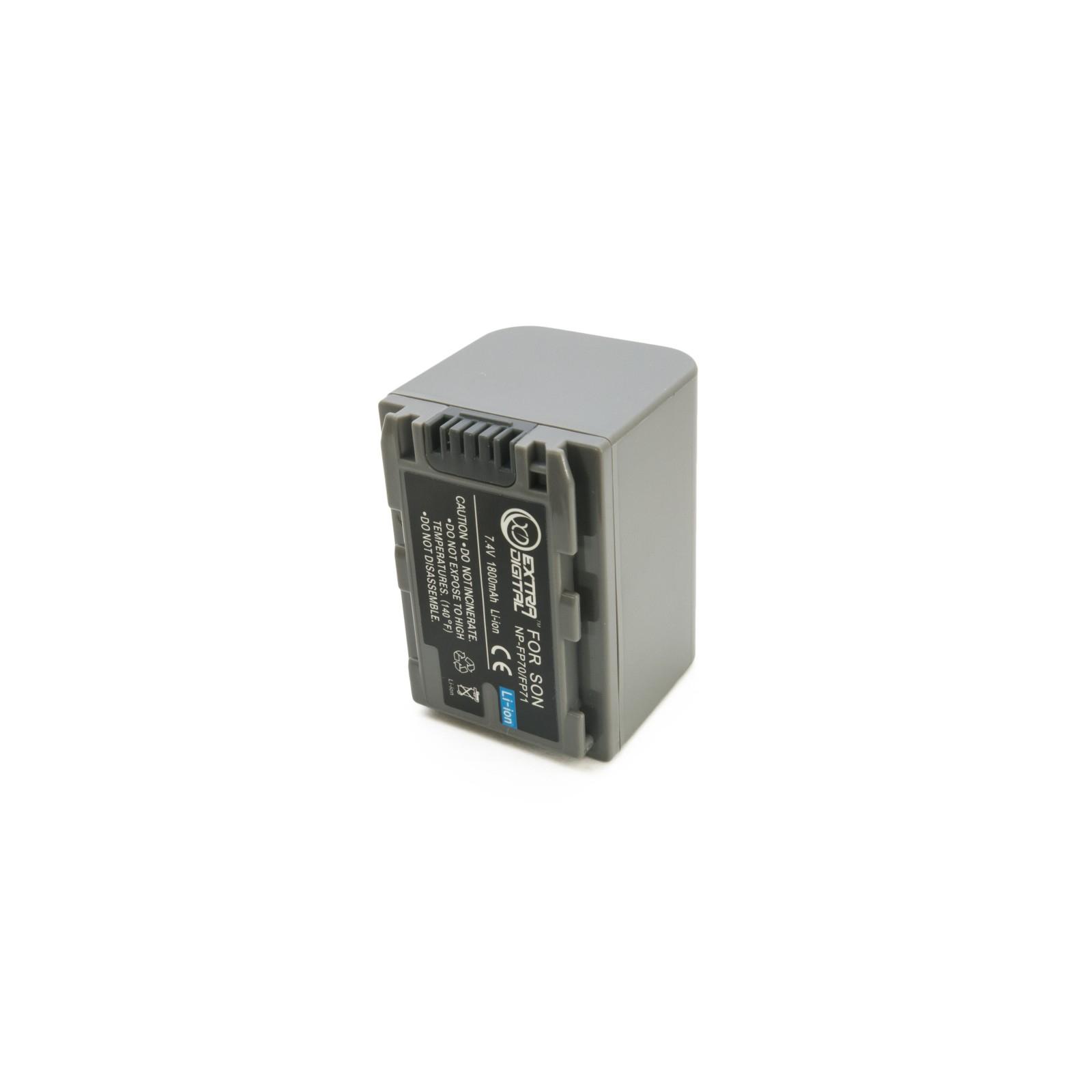 Аккумулятор к фото/видео EXTRADIGITAL Sony NP-FP70 (BDS2668) изображение 6