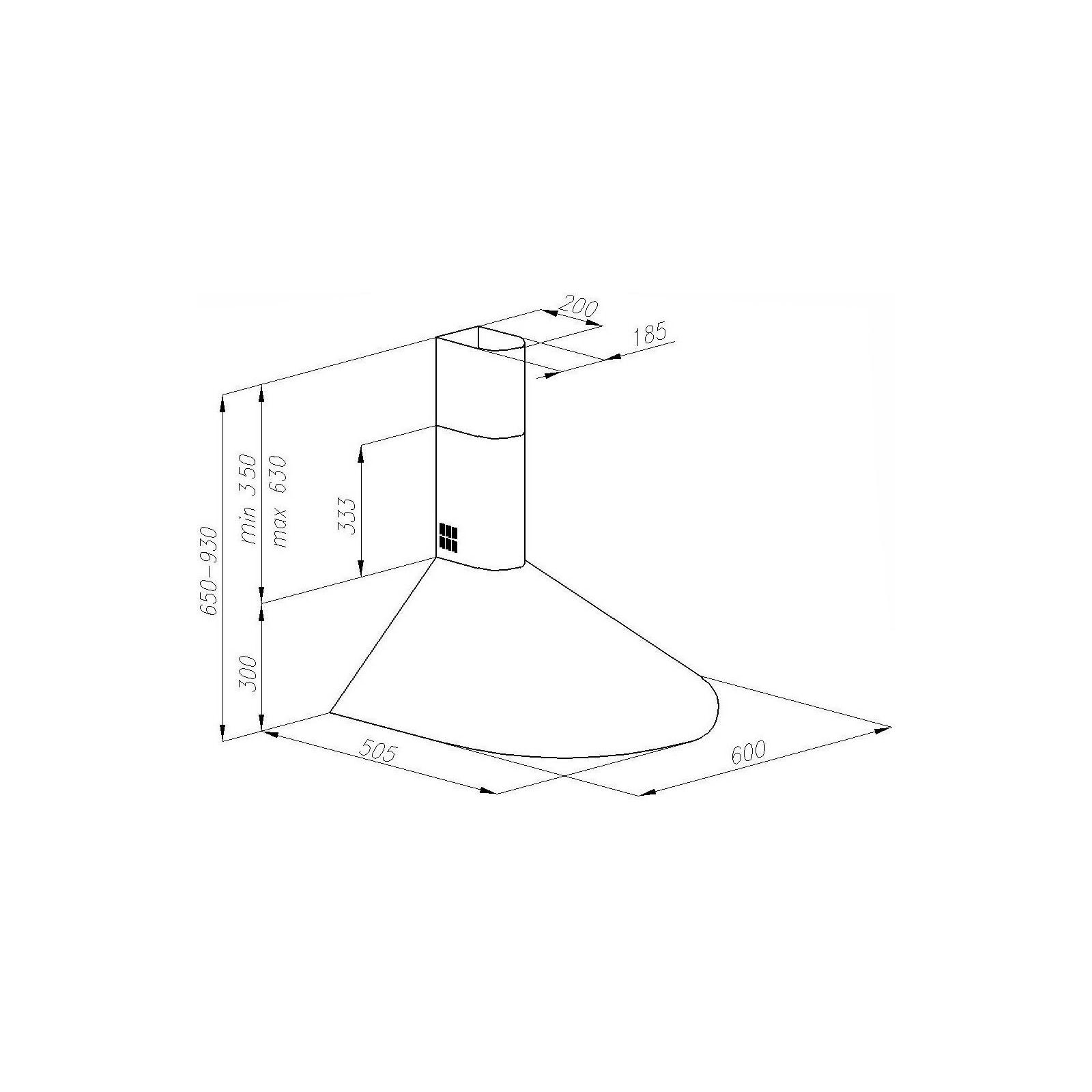 Вытяжка кухонная PERFELLI KR 610 W изображение 6