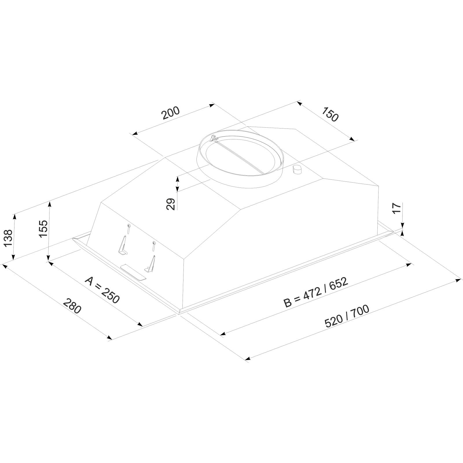 Вытяжка кухонная ELEYUS Modul 960 70 IS изображение 7