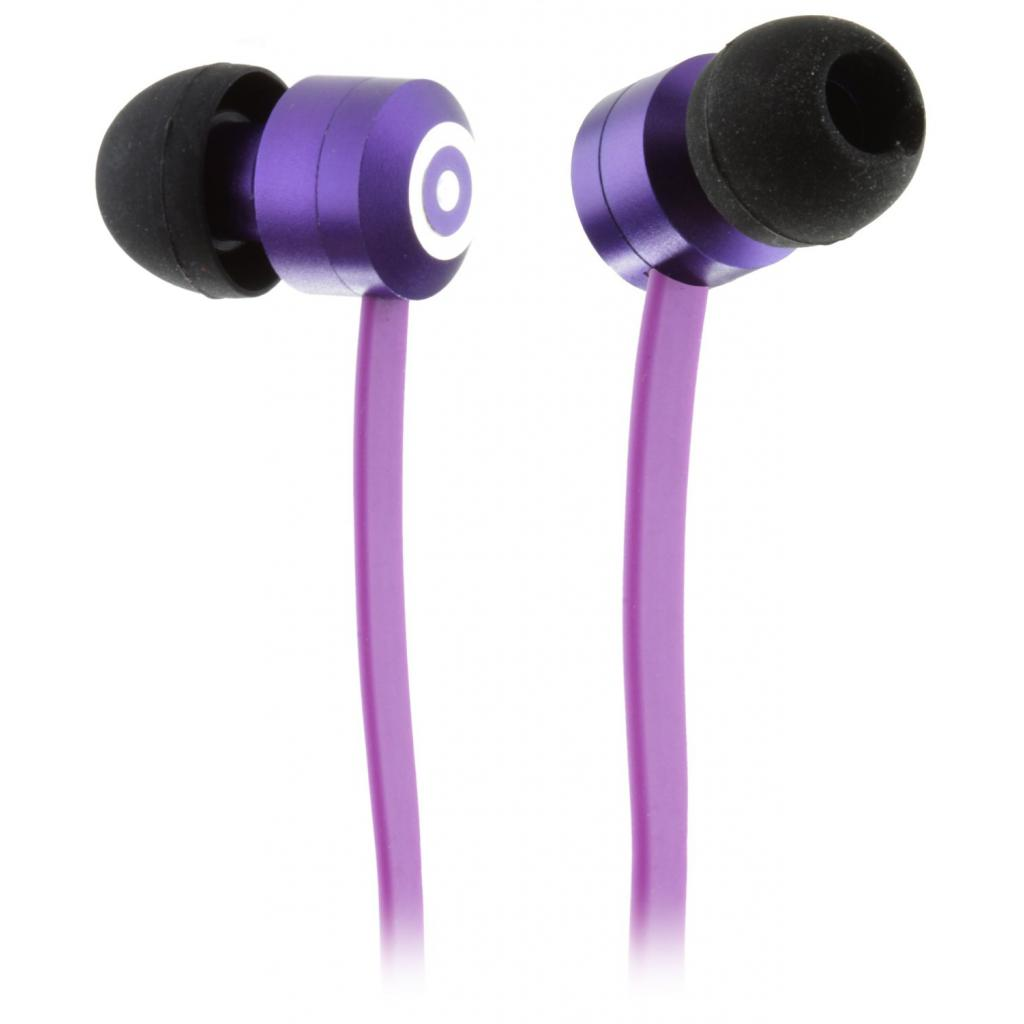 Наушники KitSound KS Ribbons In-Ear Earphones with Mic Purple (KSRIBPU)