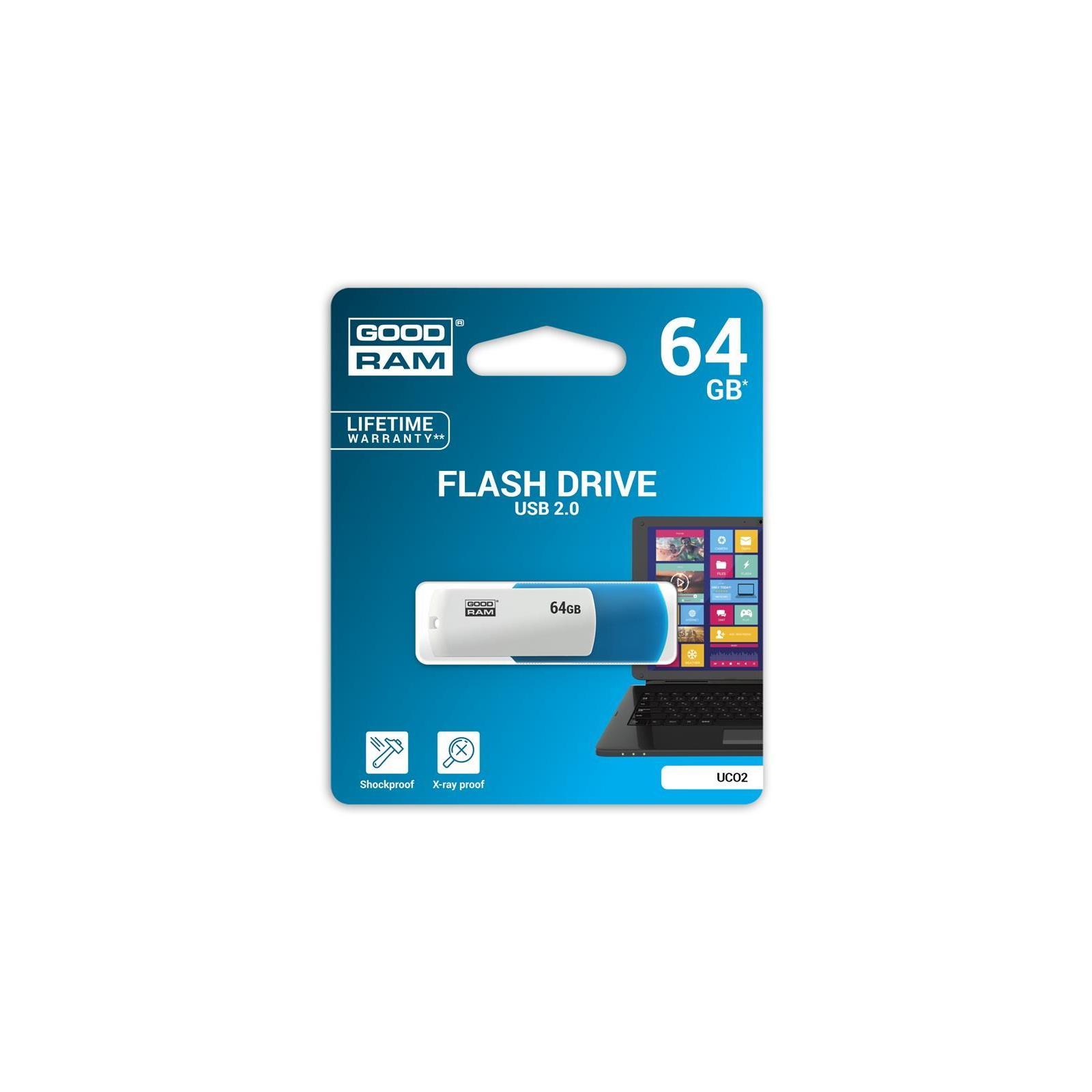 USB флеш накопитель Goodram 64GB UCO2 Colour Black&White USB 2.0 (UCO2-0640KWR11) изображение 3