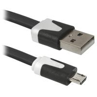 Дата кабель Defender USB08-03P USB 2.0 - Micro USB, 1m (87475)