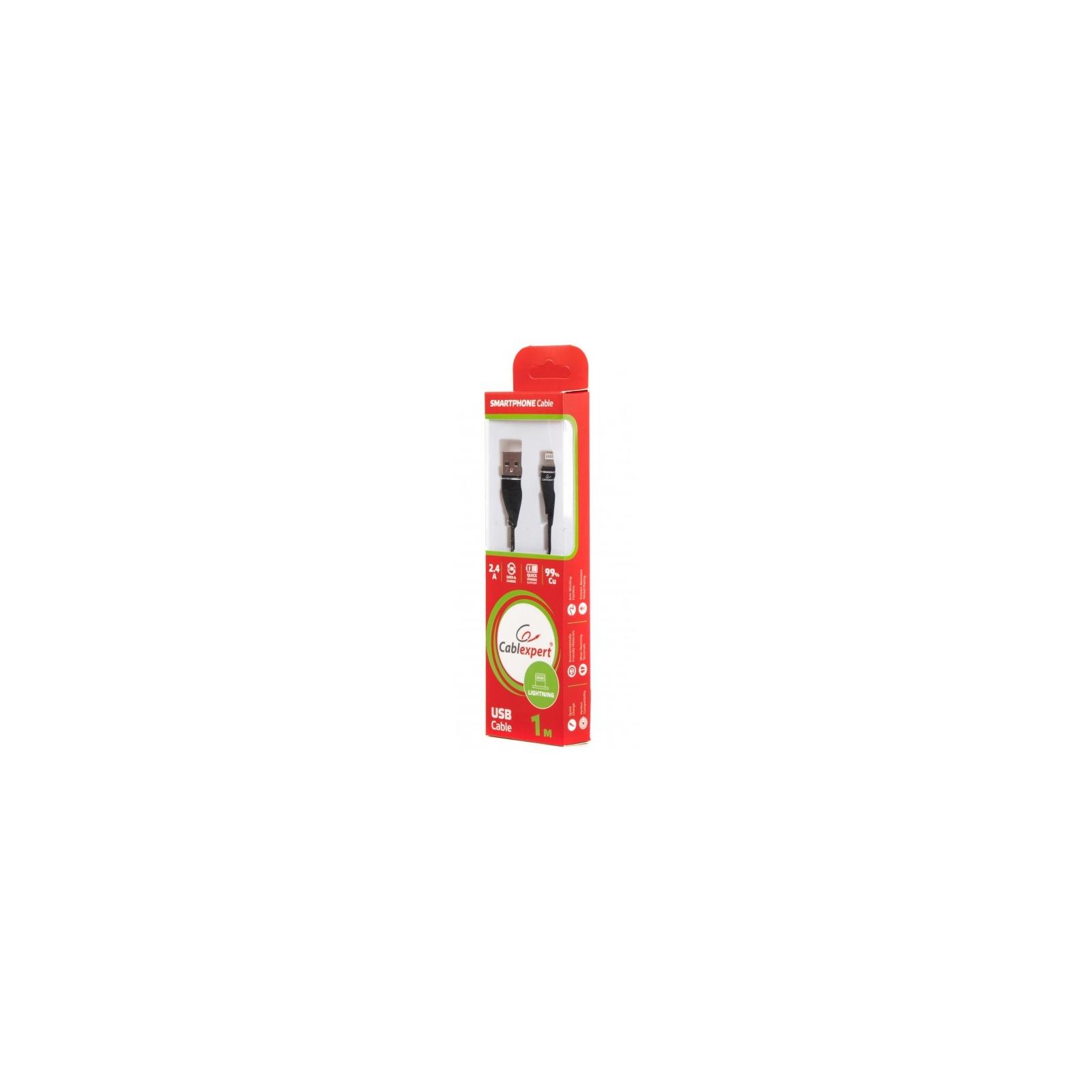 Дата кабель USB 2.0 AM to Lightning 1.0m Cablexpert (CCPB-L-USB-11BK) изображение 2