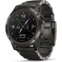 Смарт-часы Garmin D2 Delta PX Aviator Watch with DLC Titanium & Black Silicone (010-01989-30)