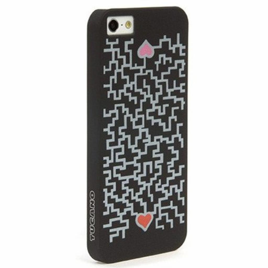 Чехол для моб. телефона Tucano iPhone 5 /Cuore by Leo (IPH5BL-LAR)