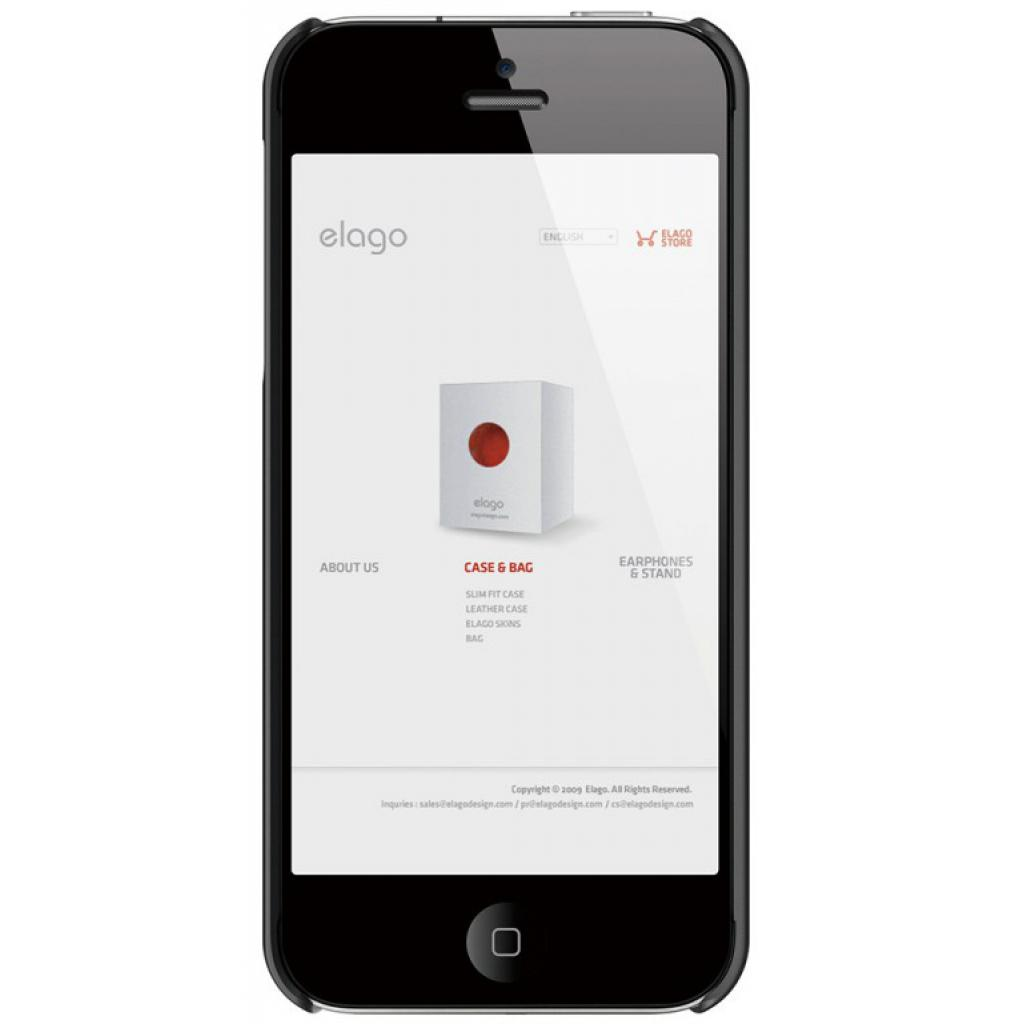 Чехол для моб. телефона ELAGO для iPhone 5 /Slim Fit 2 Soft/DarkGray (ELS5SM2-SFDGY-RT) изображение 2