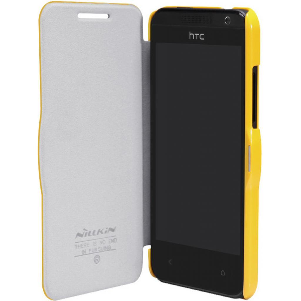 Чехол для моб. телефона NILLKIN для HTC Desire 300-Fresh/ Leather/Yellow (6120401) изображение 3