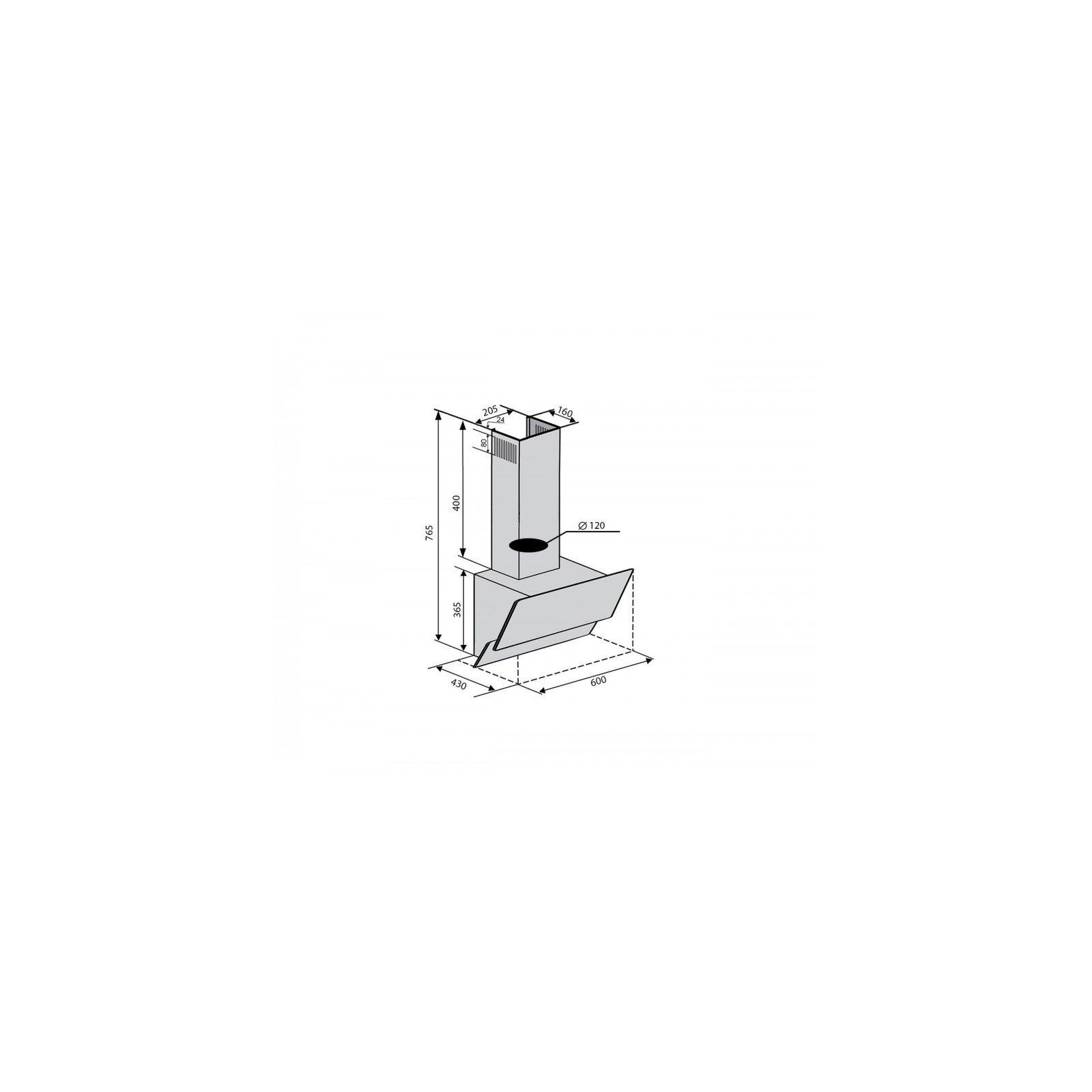 Вытяжка кухонная Ventolux ROMANIA 60 WH (750) PB изображение 6