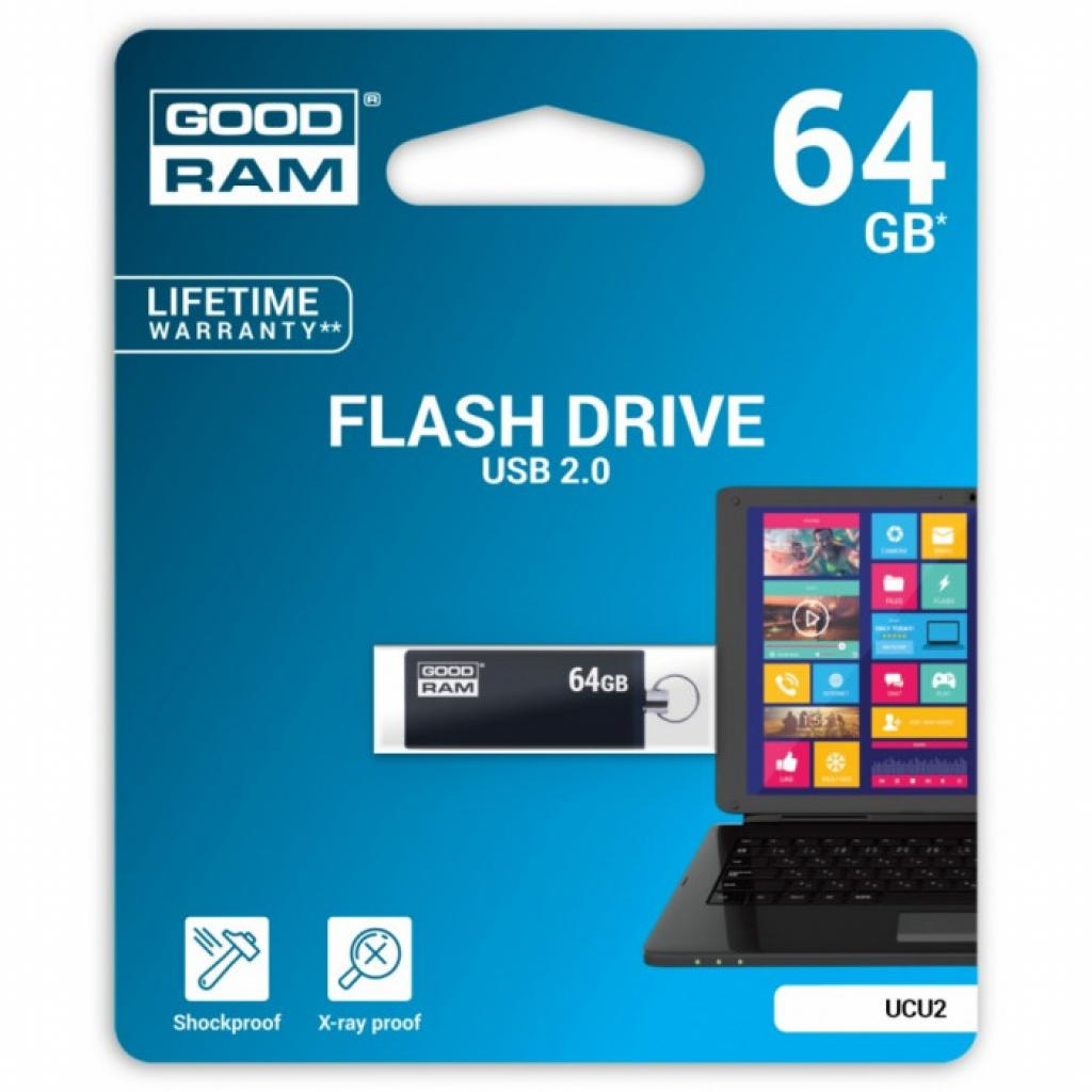 USB флеш накопитель Goodram 32GB Cube Silver USB 2.0 (PD32GH2GRCUSR9) изображение 3
