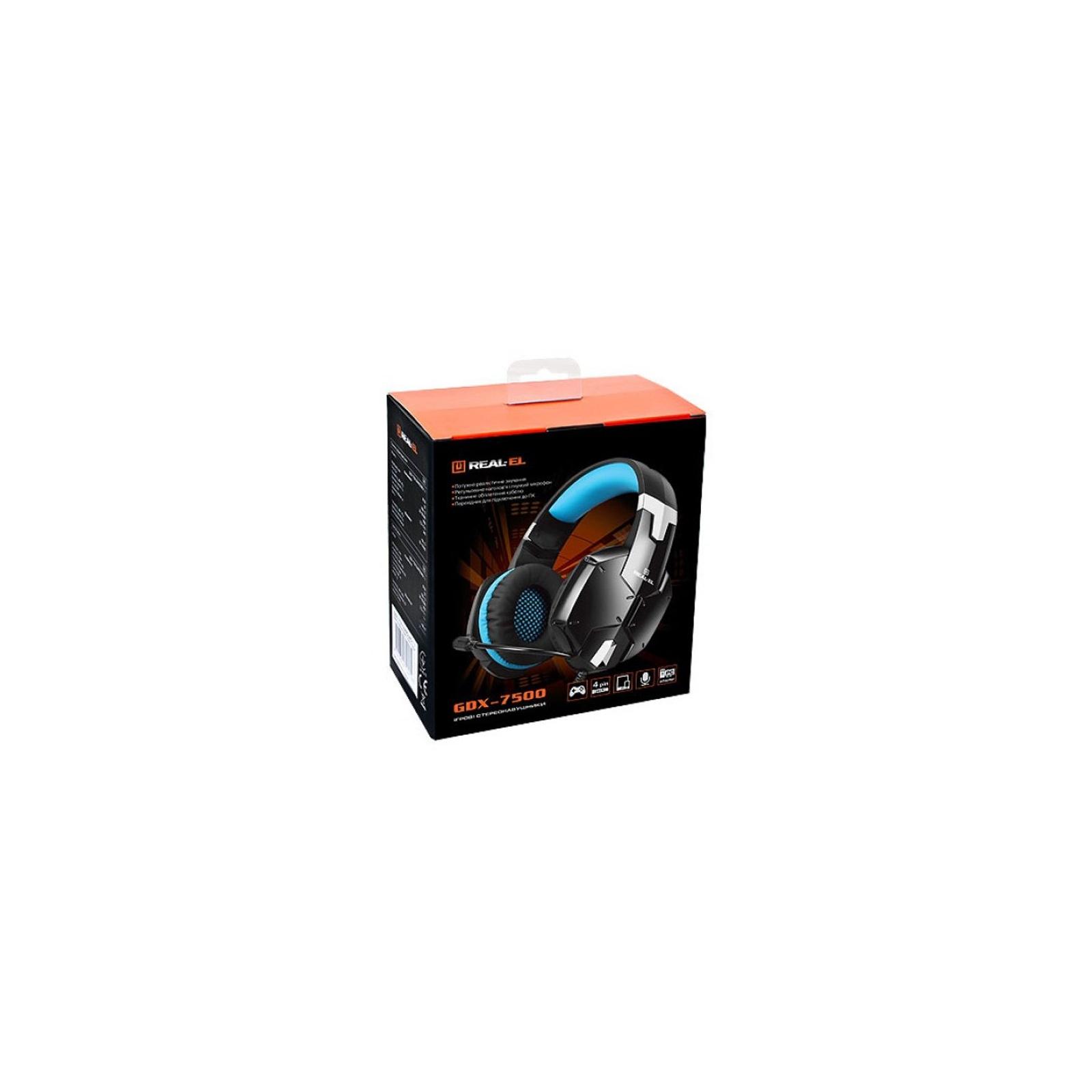 Навушники REAL-EL GDX-7500 black-blue зображення 9