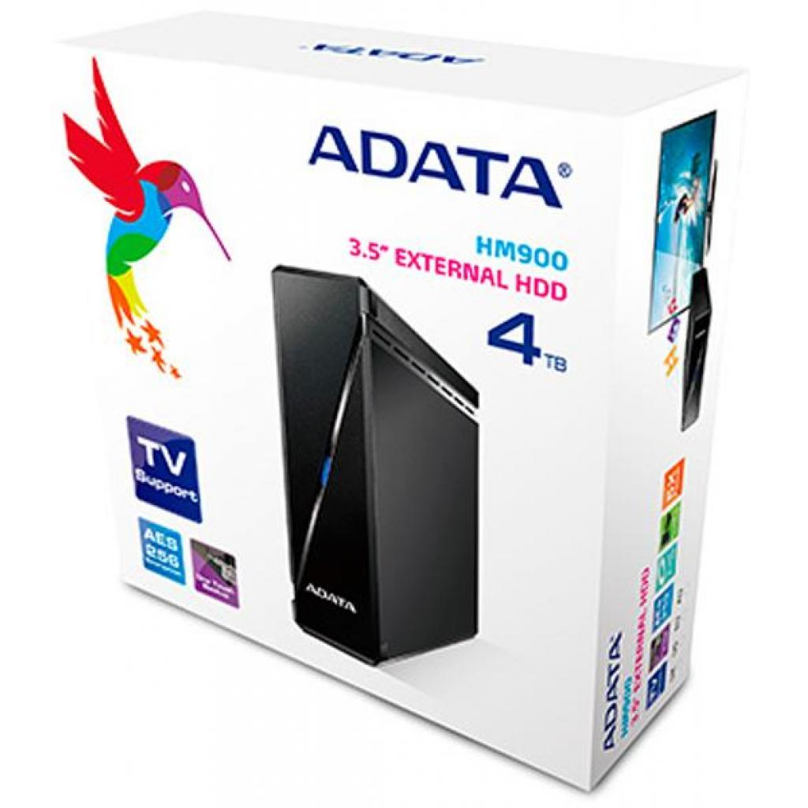 """Внешний жесткий диск 3.5"""" 4TB ADATA (AHM900-4TU3-CUKBK) изображение 5"""