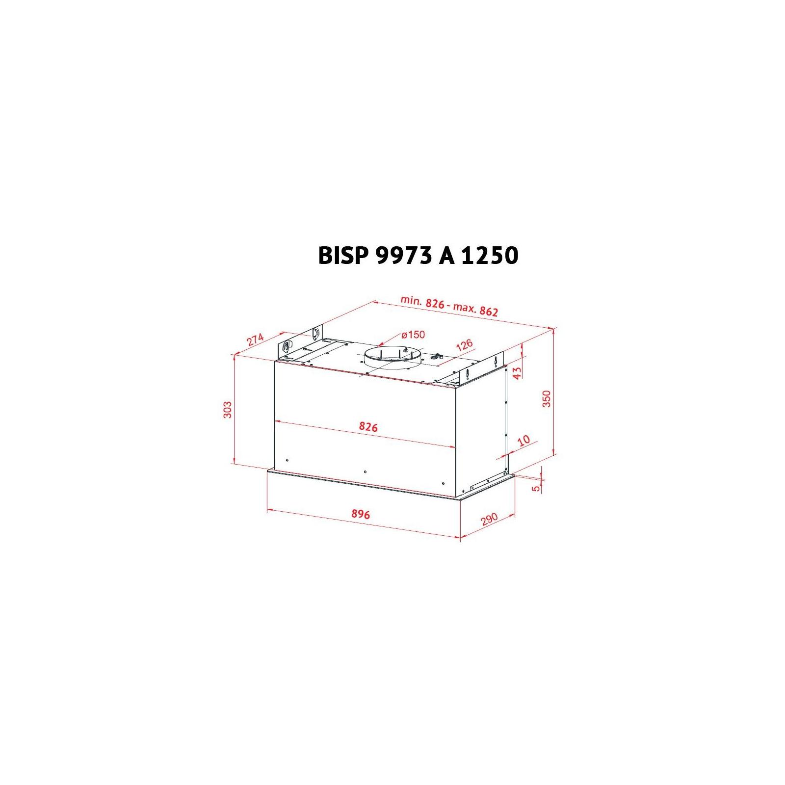 Вытяжка кухонная PERFELLI BISP 9973 A 1250 W LED Strip изображение 9