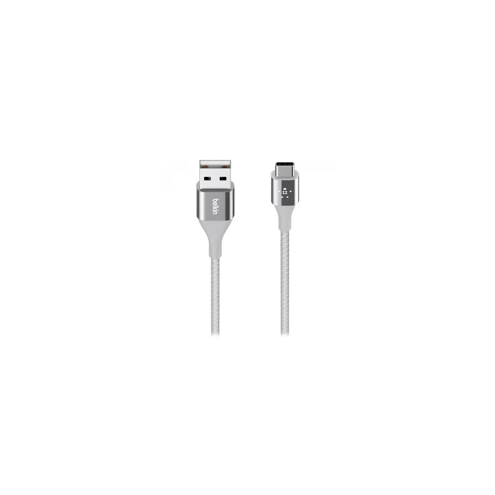 Дата кабель USB 2.0 AM to Type-C 1.2m MIXIT DuraTek silver Belkin (F2CU059BT04-SLV)
