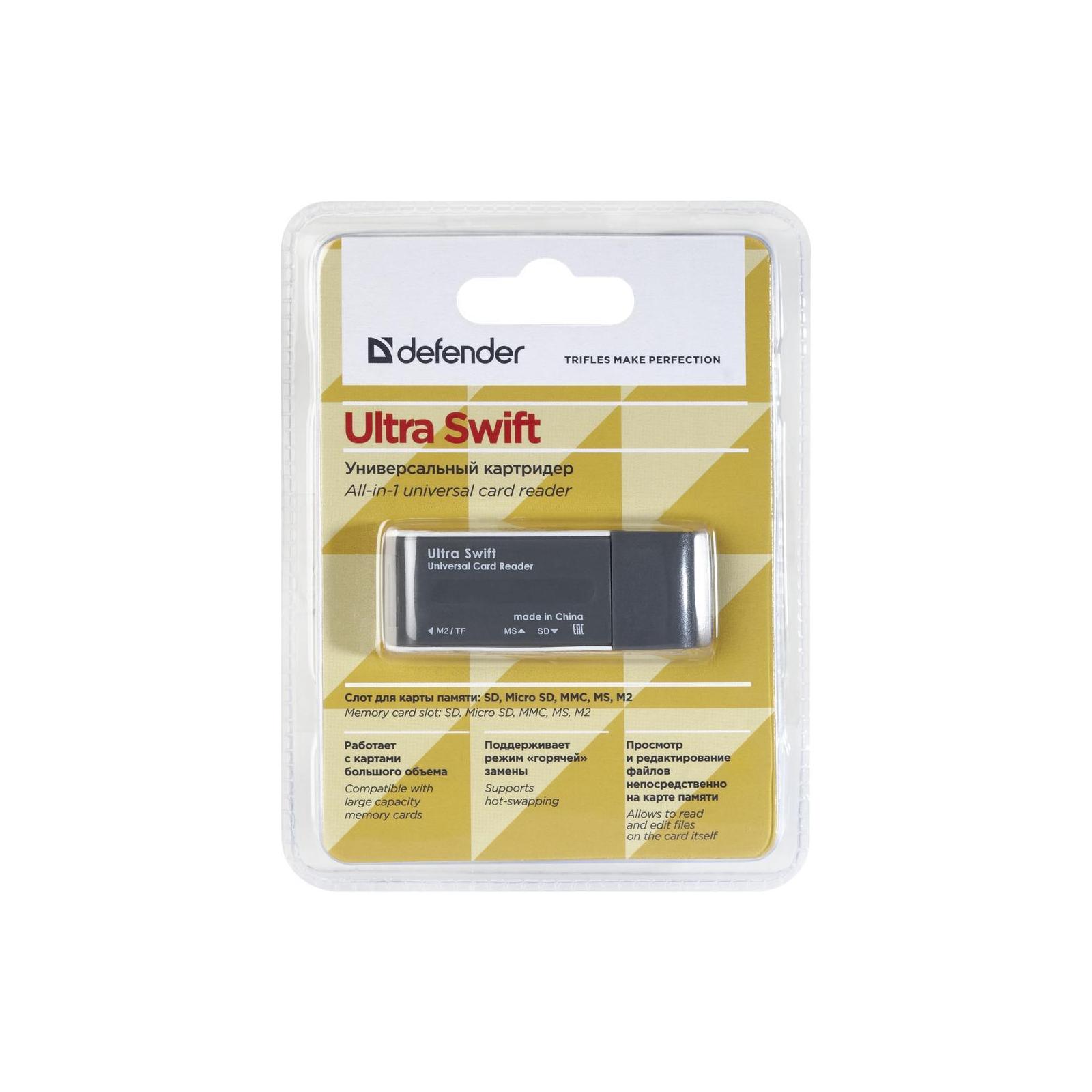 Считыватель флеш-карт Defender Ultra Swift USB 2.0 (83260) изображение 3