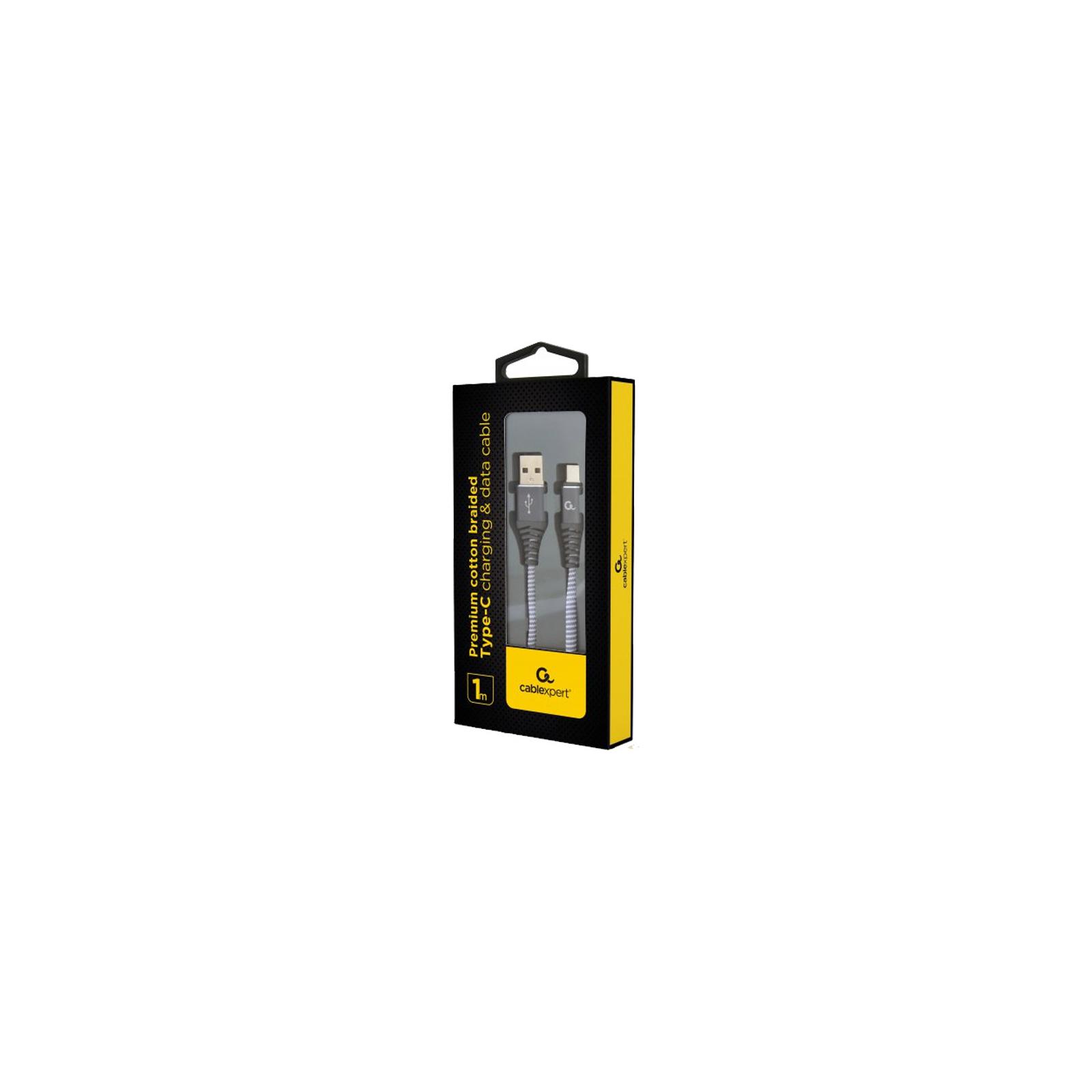 Дата кабель USB 2.0 AM to Type-C 1.0m Cablexpert (CC-USB2B-AMCM-1M-PW) изображение 2