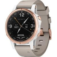Смарт-часы Garmin D2 Delta S Aviator Watch White/Rose Gold with Beige Leather (010-01987-30)