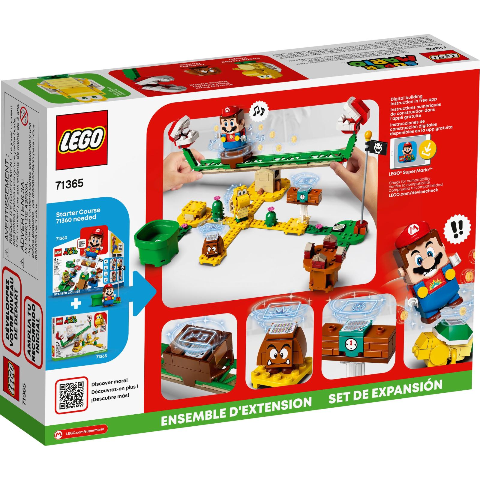 Конструктор LEGO Super Mario Мощная атака Растения-пираньи (71365) изображение 4