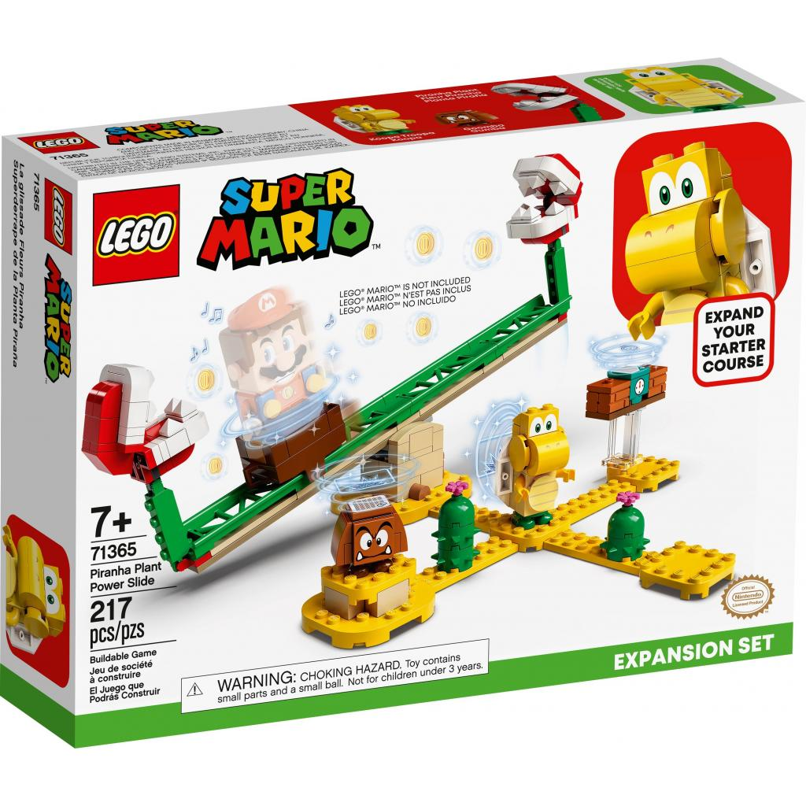 Конструктор LEGO Super Mario Мощная атака Растения-пираньи (71365)