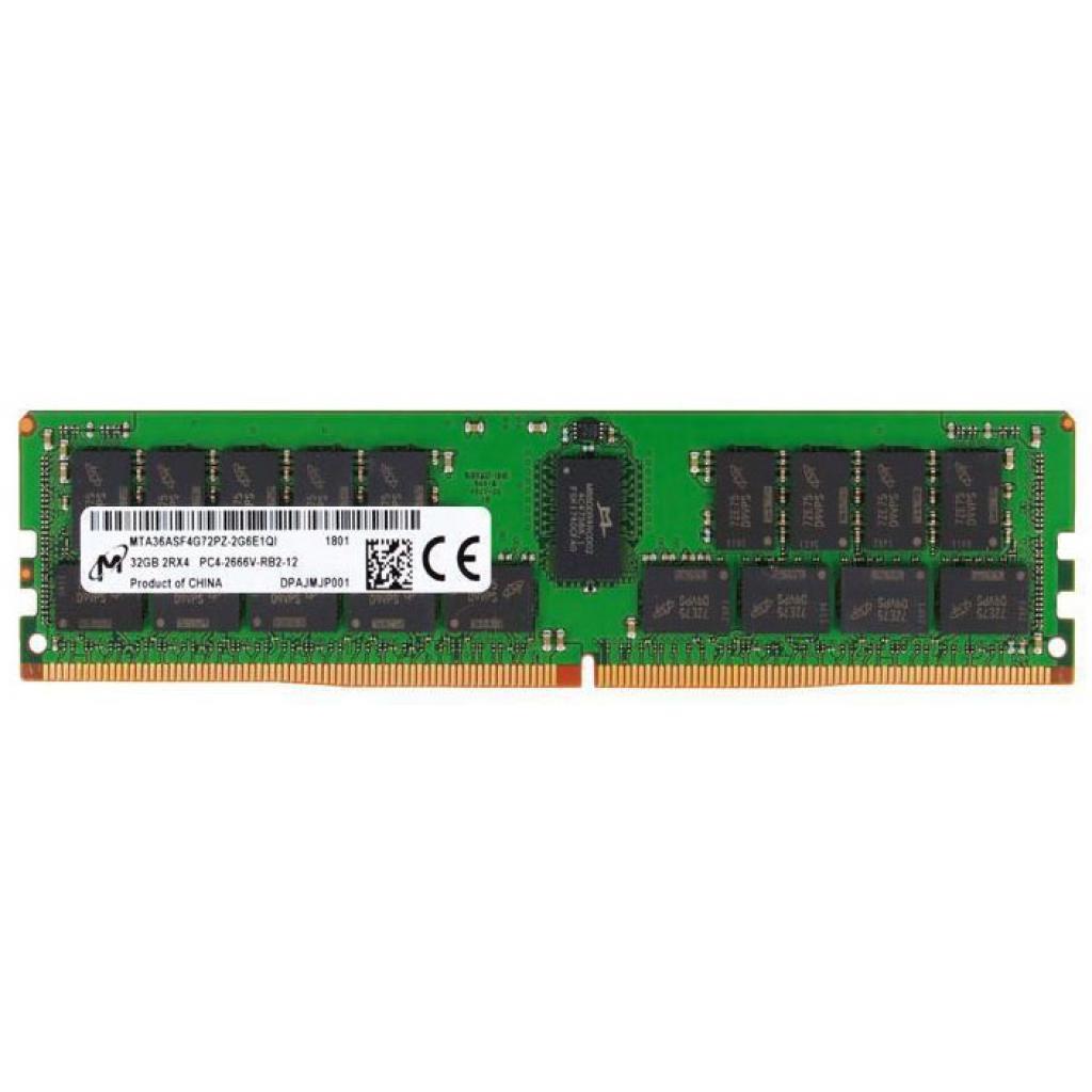 Модуль памяти для сервера DDR4 32GB ECC RDIMM 2666MHz 2Rx4 1.2V CL19 Micron (MTA36ASF4G72PZ-2G6J1)