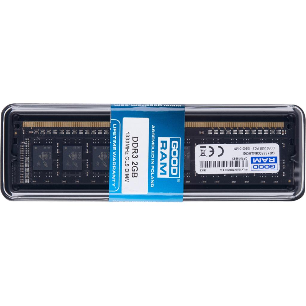 Модуль памяти для компьютера DDR3 2GB 1333 MHz GOODRAM (GR1333D364L9/2G) изображение 5