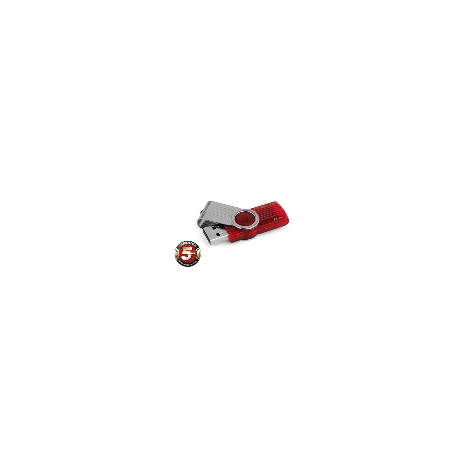 USB флеш накопитель 8Gb DataTraveler 101 G2 Kingston (DT101G2/8GB/DT101G2/8GBZ) изображение 2