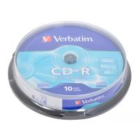 Диск CD Verbatim 700Mb 52x Cake box 10шт Extra (43437)