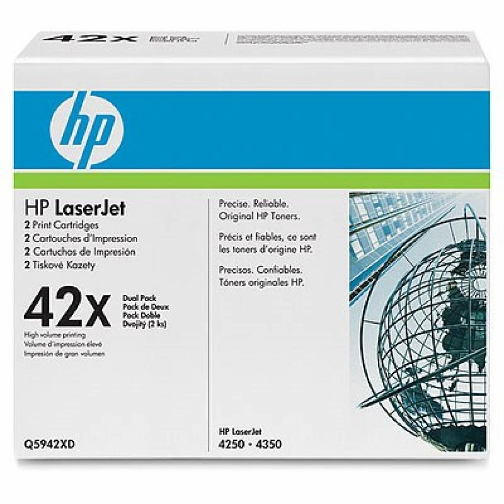Картридж LJ 4250/4350 DUAL PACK HP (Q5942XD)