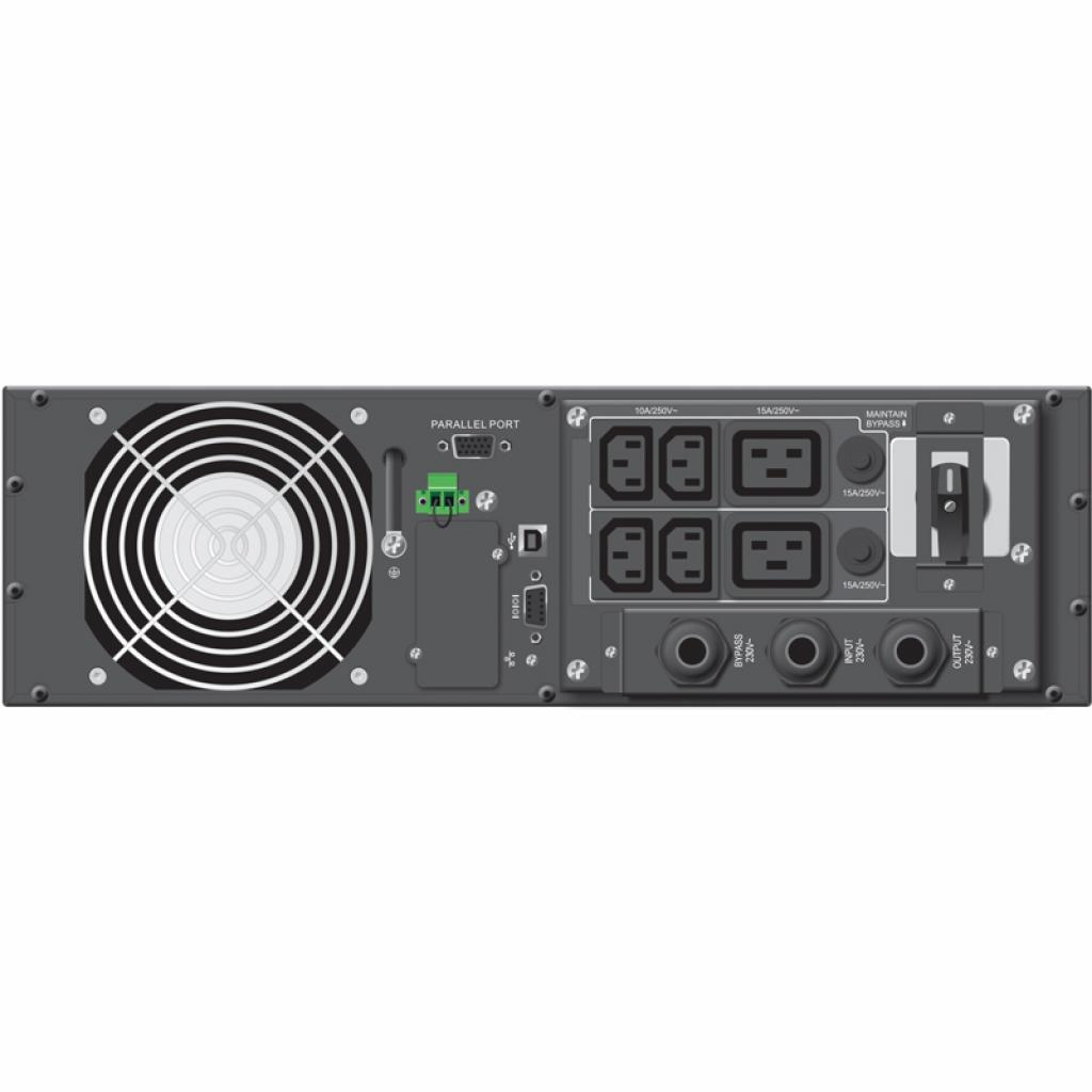 Источник бесперебойного питания PowerWalker VFI 6000RT LCD, Rack/Tower (10120130) изображение 2