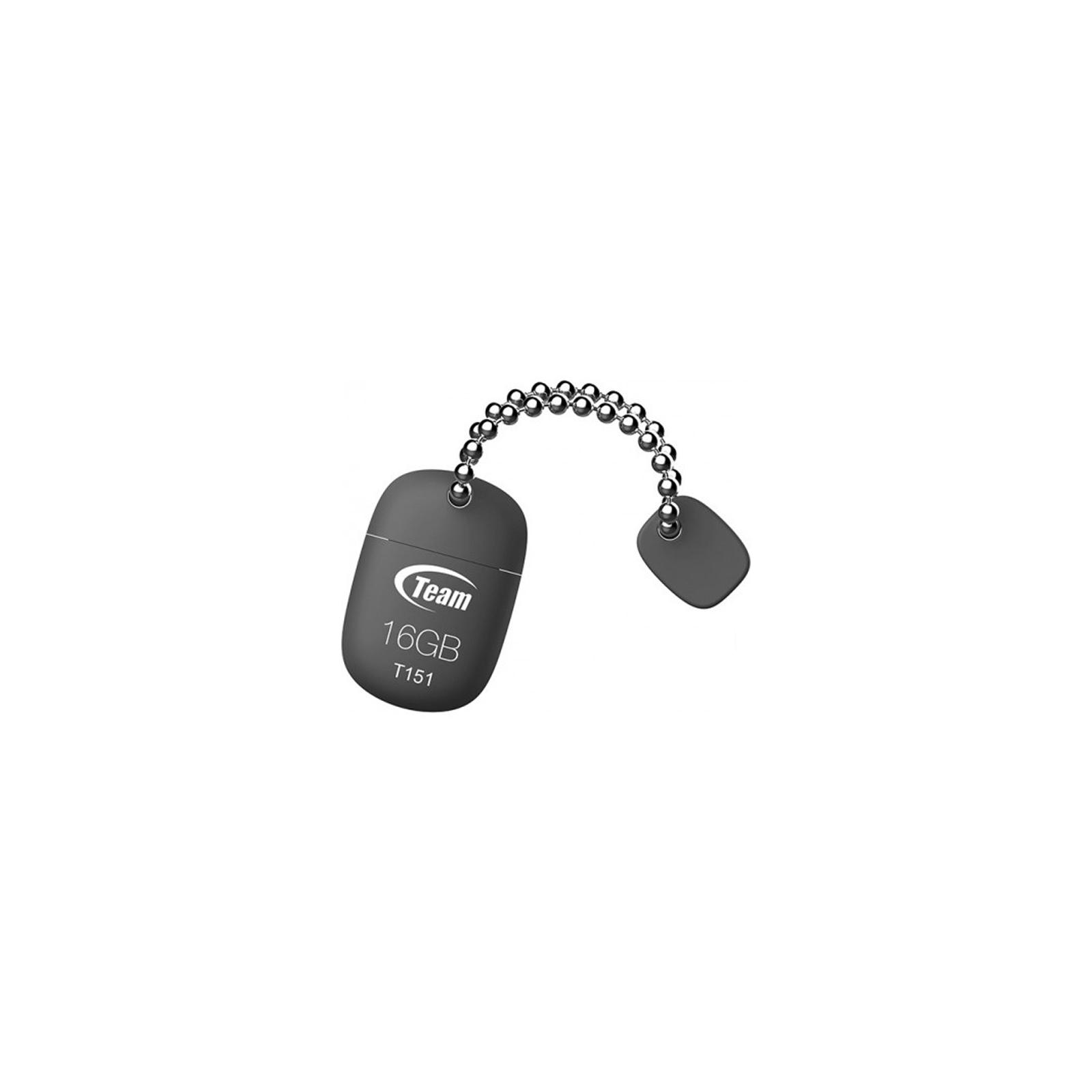 USB флеш накопитель Team 16GB T151 Grey USB 2.0 (TT15116GC01) изображение 2