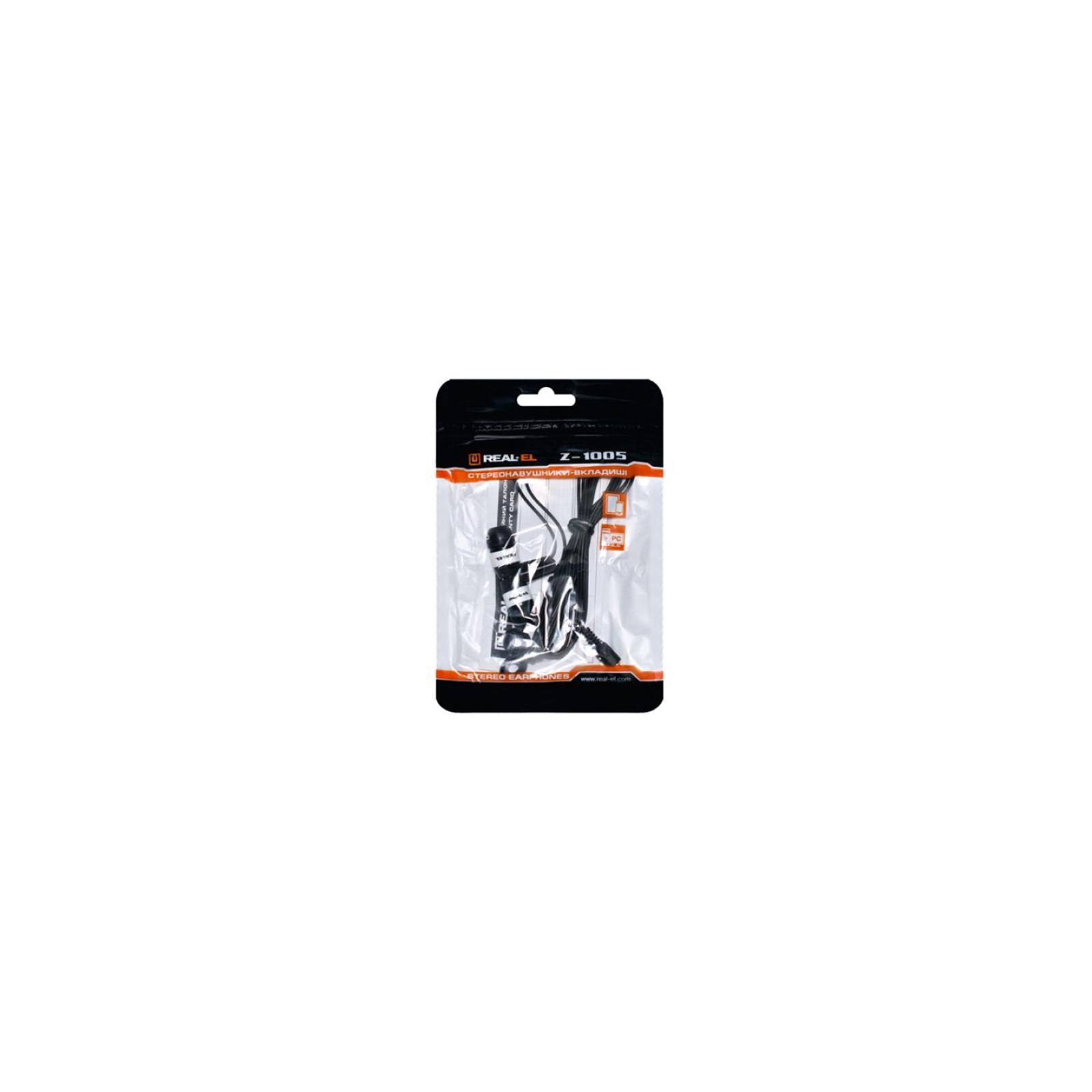 Наушники REAL-EL Z-1005 Black/White изображение 2