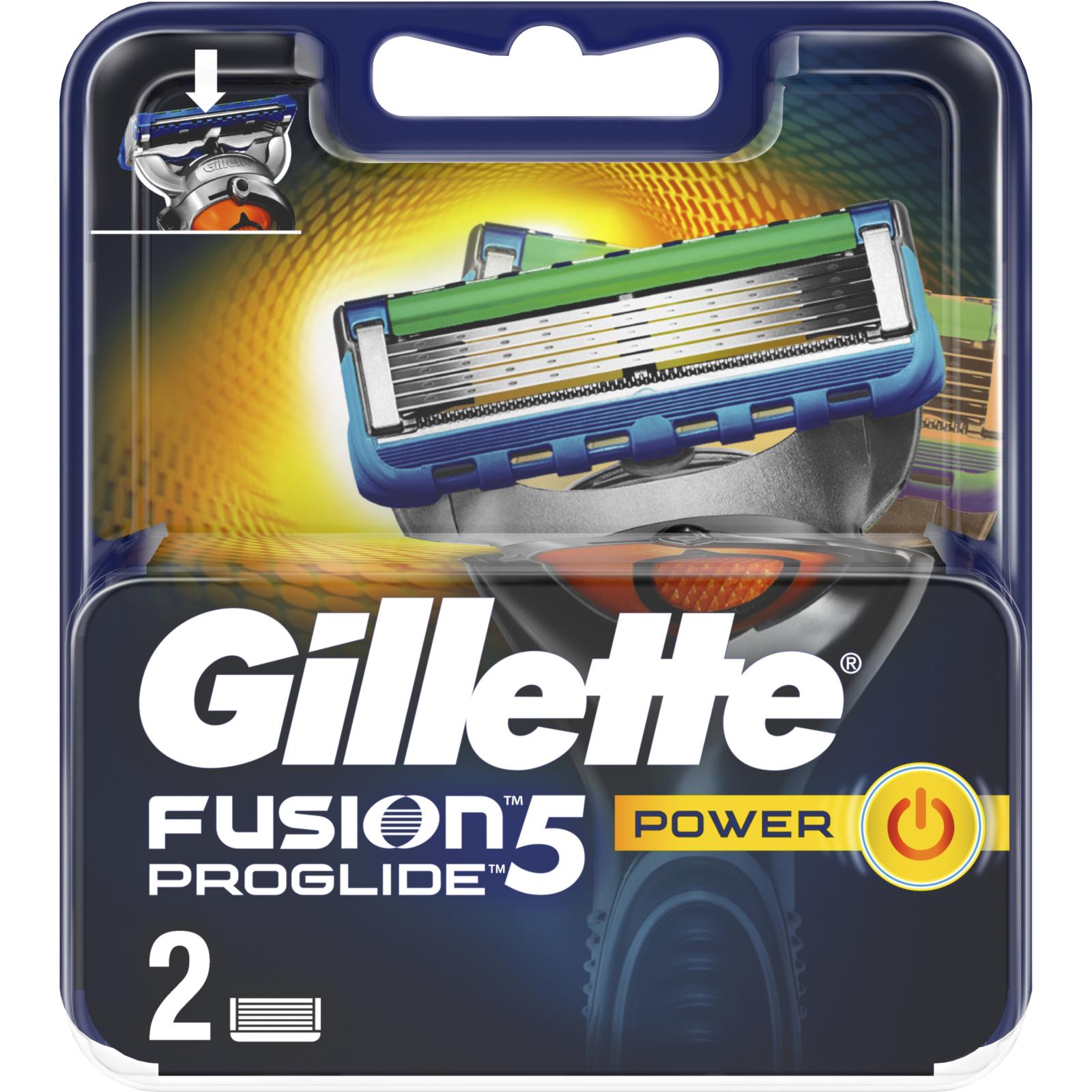 Сменные кассеты Gillette Fusion ProGlide Power 2 шт (7702018085927) изображение 2