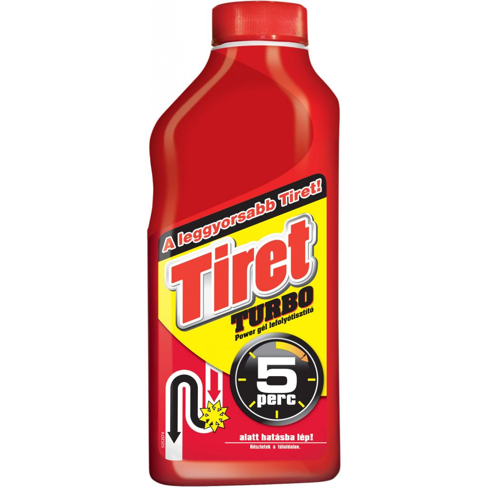 Чистящий гель Tiret Turbo для удаления засоров в трубах 500 мл (5997321741833)