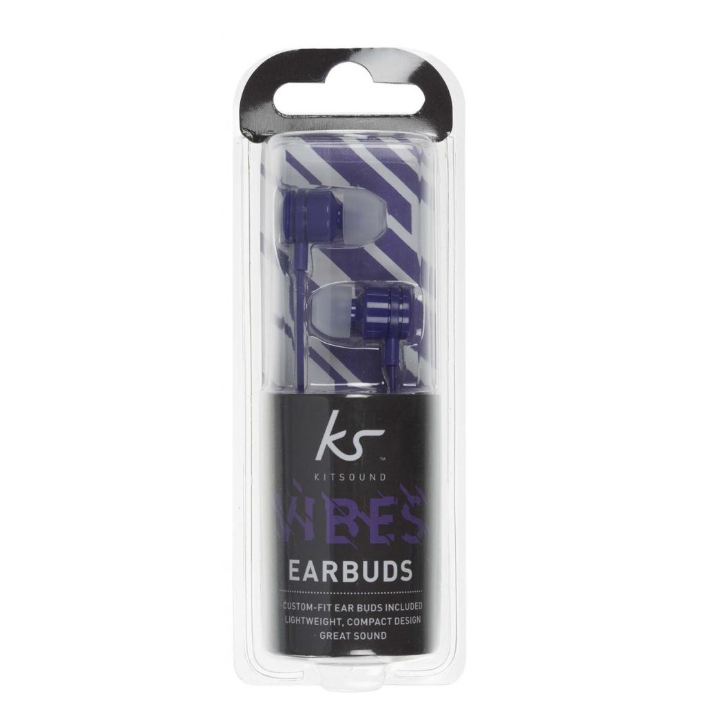 Наушники KitSound KS Vibes Earphones Purple (KSVIBPU) изображение 6