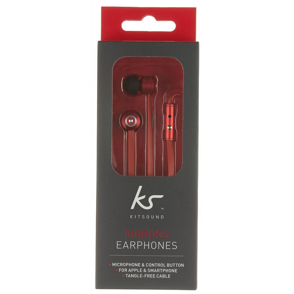 Наушники KitSound KS Ribbons In-Ear Earphones with Mic Red (KSRIBRD) изображение 10