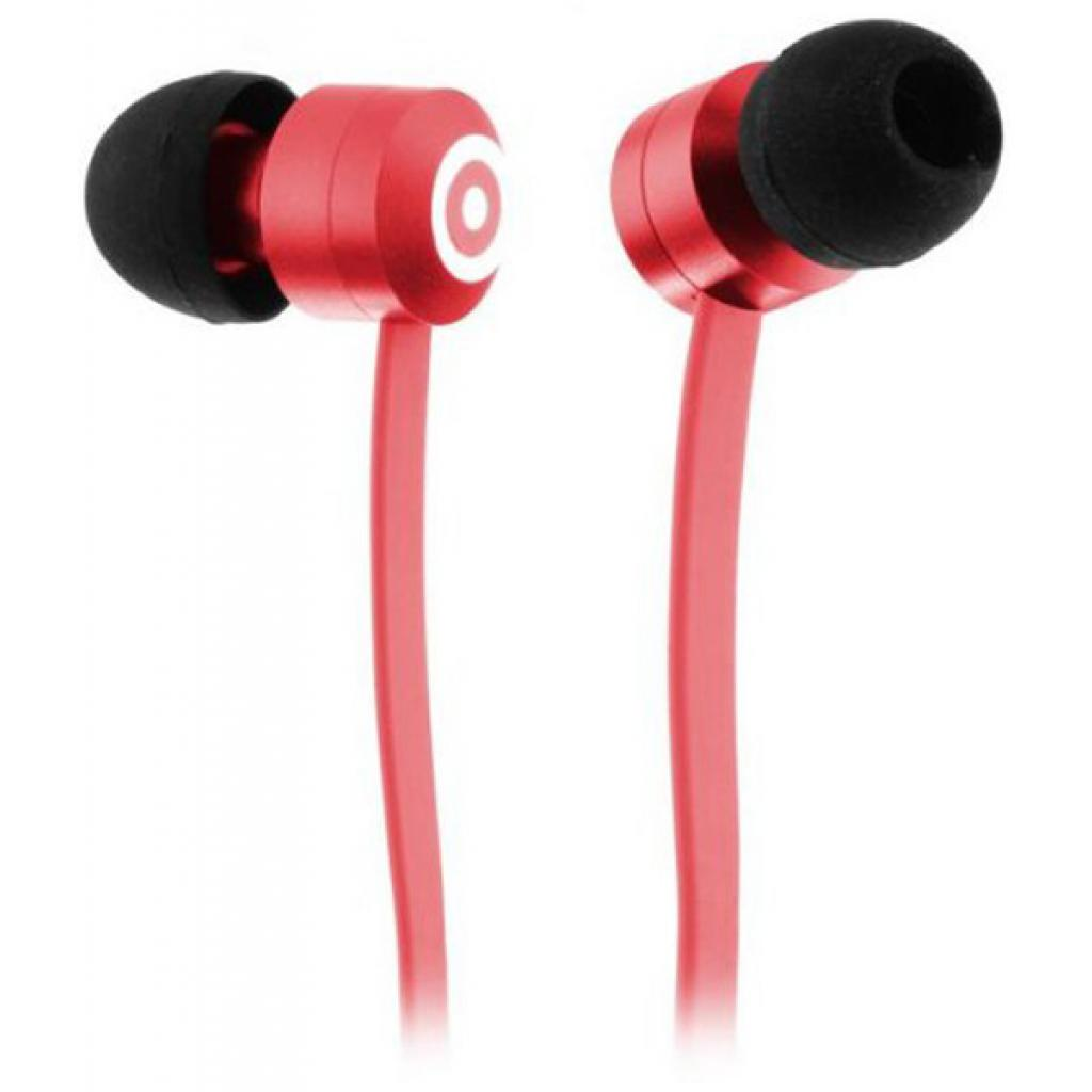Наушники KitSound KS Ribbons In-Ear Earphones with Mic Red (KSRIBRD)
