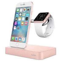 Док-станция Belkin Charge Dock iWatch + iPhone, rose-gold (F8J183vfC00)