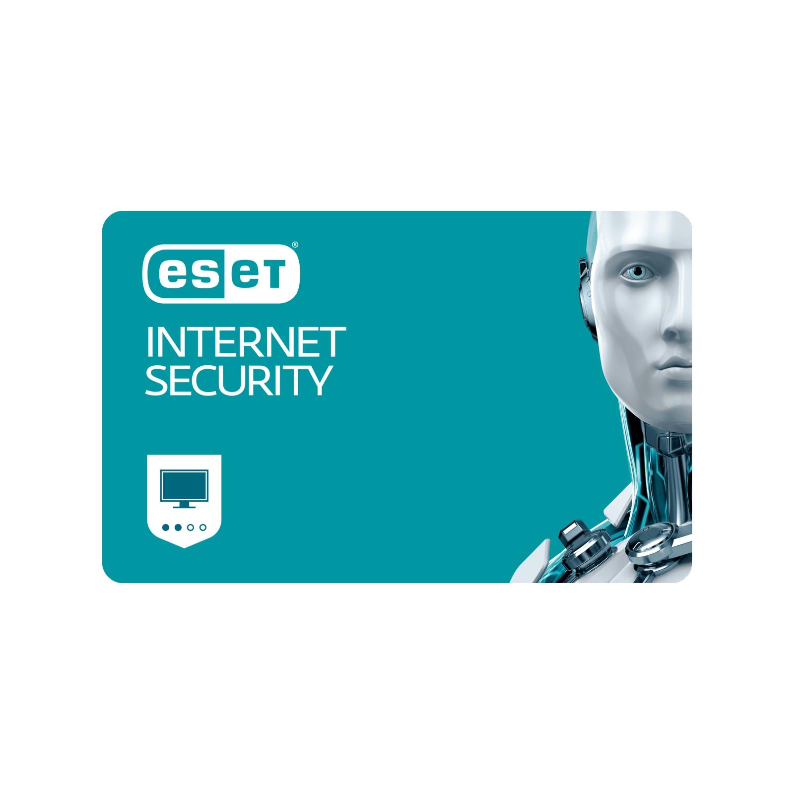 Антивірус Eset Internet Security 2ПК 12 мес. base/20 мес продление конверт (2012-1-key)