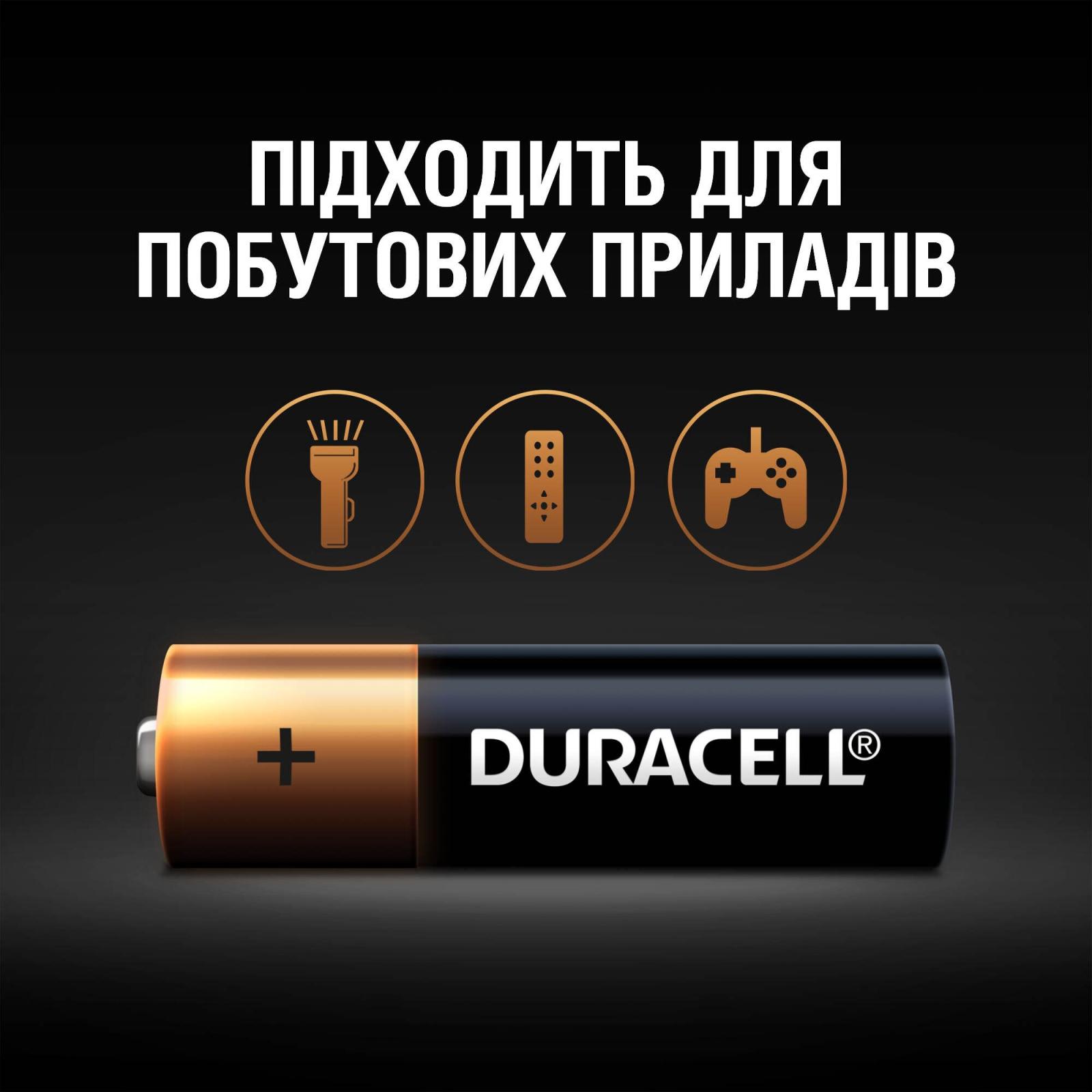 Батарейка Duracell AA MN1500 LR06 * 4 (5000394052536 / 81551270) изображение 5
