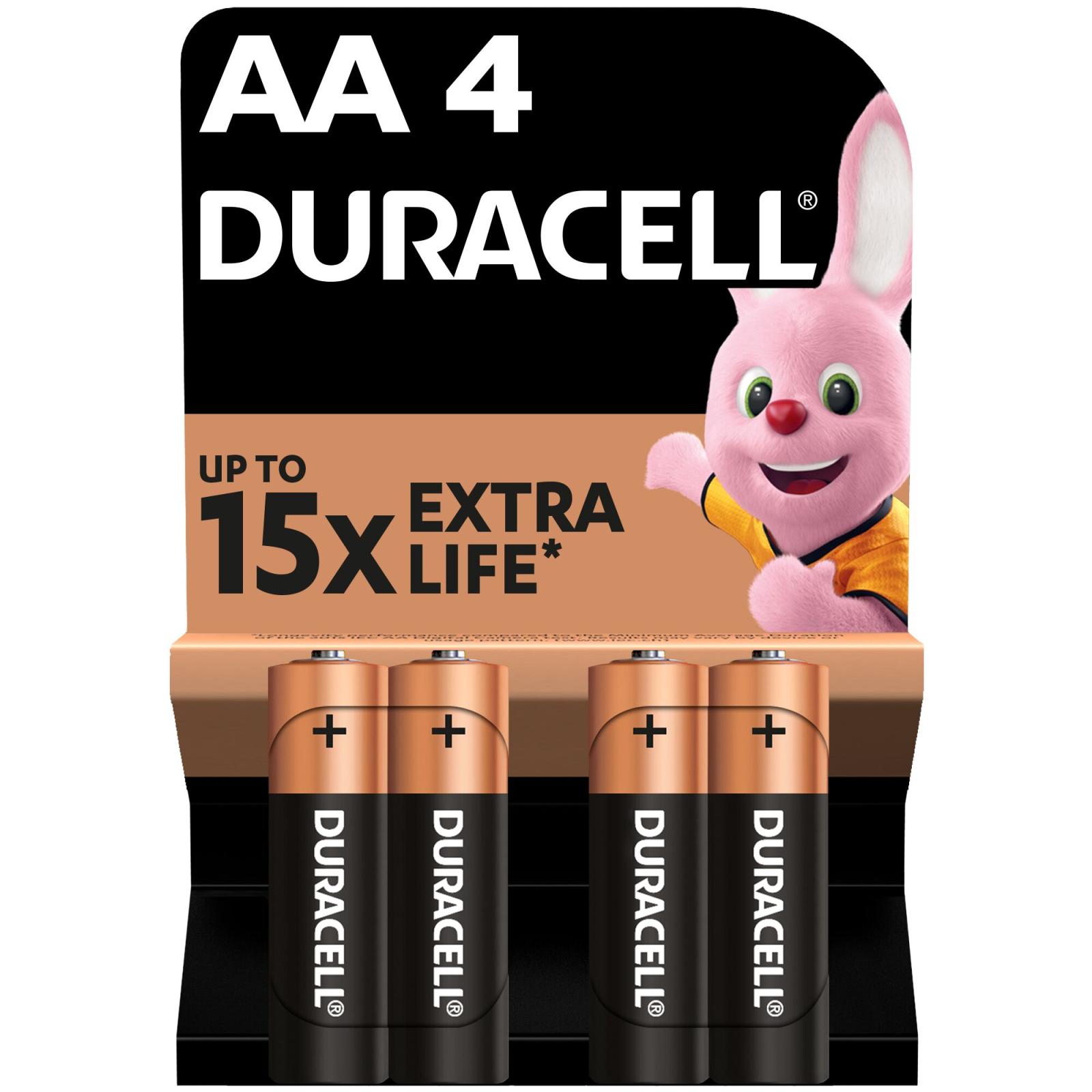 Батарейка AA MN1500 LR06 * 4 Duracell (5000394052536 / 81551270)