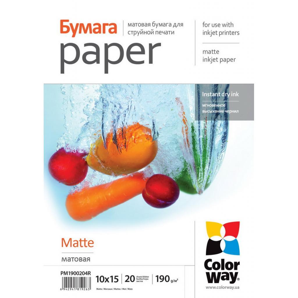 Бумага ColorWay 10x15 (ПМ190-20) (PM1900204R)