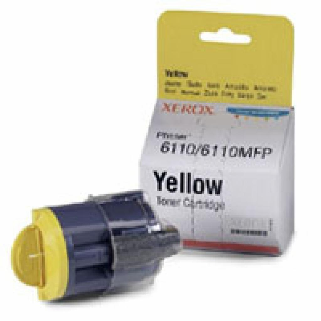 Тонер-картридж XEROX PH6110 Yellow (1000ст) (106R01204)