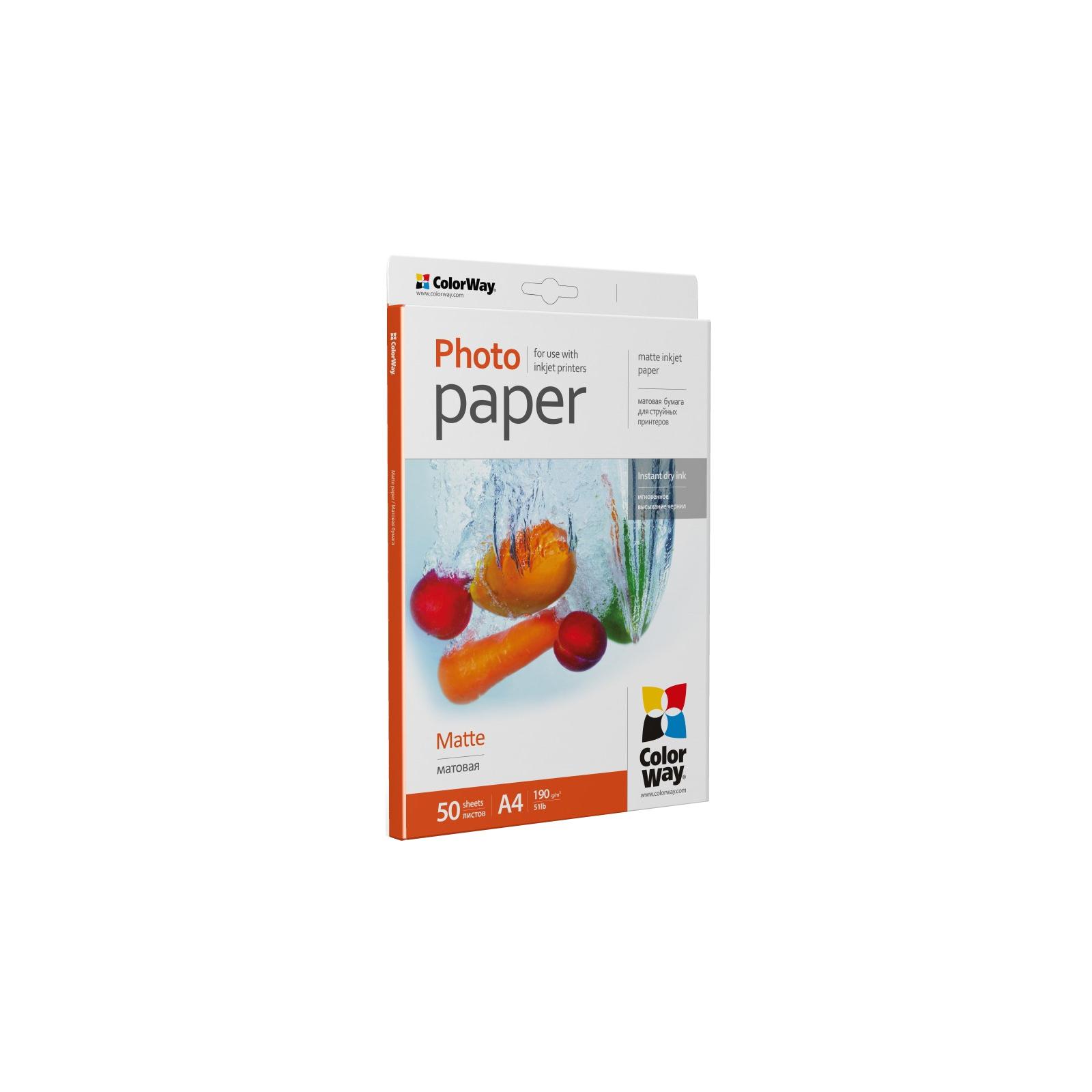 Бумага Colorway A4 190г Matte 50ст. (PM190050A4) изображение 2