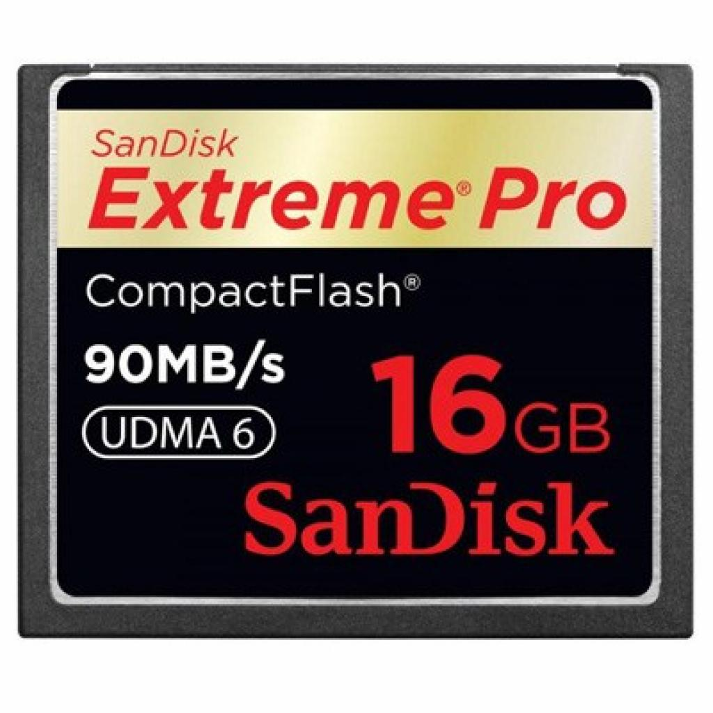 Карта памяти SANDISK 16Gb Compact Flash eXtreme Pro (SDCFXP-016G-X46/SDCFXPS-016G-X46)